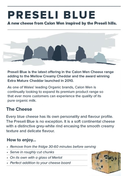Preseli Blue Info Card